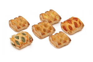 Grilled Puff Pastry Appetizer 6 Flavors